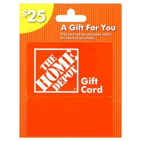 Home depot also offers the home depot project loan card, which allows cardholders to borrow up to $55,000 for big improvement projects at a relatively low apr (7.99% as of july 2019) for up to 84. $25 Home Depot Gift Card