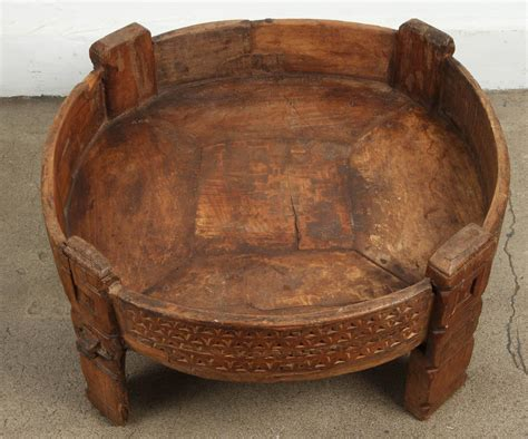 Moroccan Round Wooden Tribal Table At 1stdibs