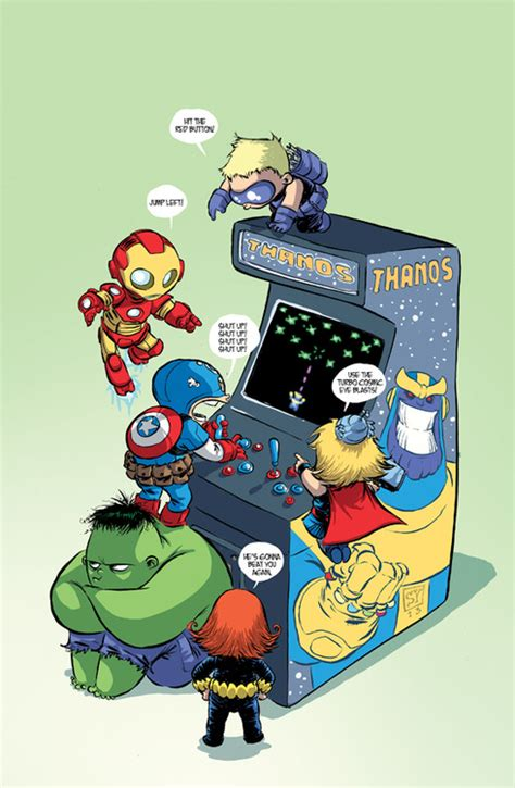 foto de Skottie Young s Variant Cover For Marvel s Infinity #1 Is