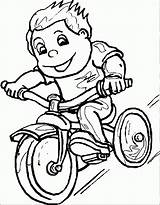Riding Coloring Boy Bike Pages Bicycle Clipart Bikes Popular Template sketch template