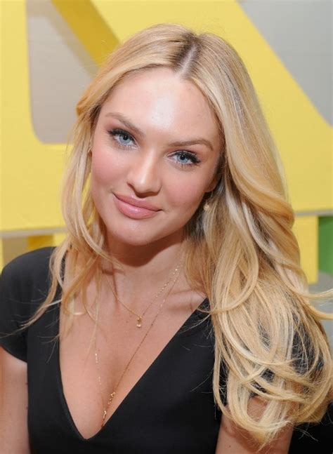 candice swanepoel sexy long blonde center part hairstyle hairstyles weekly