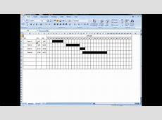 Excel Tutorial Make interactive visual schedule with one
