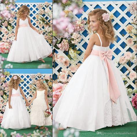 beach wedding flower girl dresses spaghetti pink
