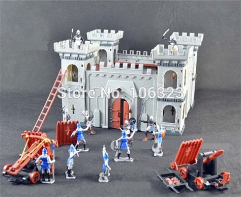 siege chariot 3d diy assemblage castle blocks 12 solider model 2 war