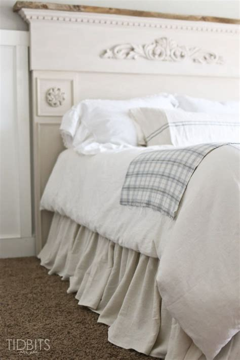 diy gathered bed skirt time saving head boards