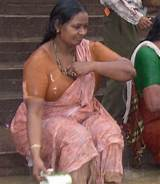 Bihari babhi outdoor bath