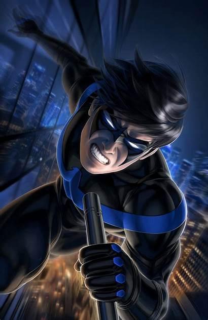 Nightwing Dc Comics Batman Fighting Variant Comic
