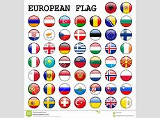 European Flag Buttons stock illustration Illustration of