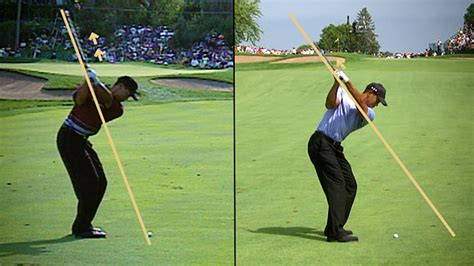tiger woods swing tiger woods swing evolution and changes pga