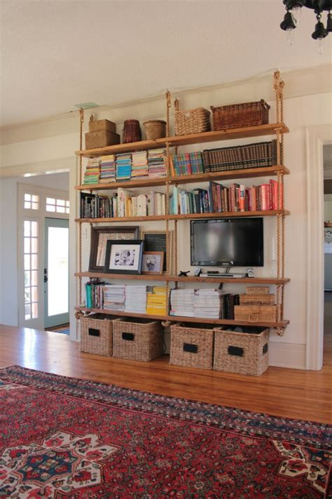 Unique Hanging Bookshelves Wall That Worth To Own Homesfeed