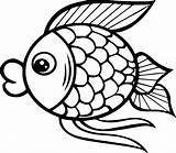 Fish Coloring Cartoon Pages Outline Drawing Printable Pdf Preschool Easy Template Bass Ray Colouring Sheets Getcolorings Getdrawings Pag Jellyfish Drawings sketch template