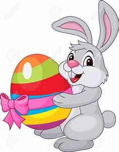 Vector Cute Pink Bunny Rabbit Cartoon Character Royalty ...