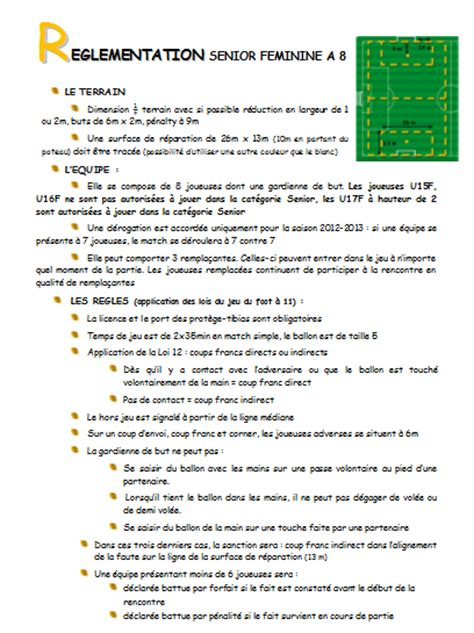 reglement interieur club de foot r 233 glement football 224 8 club football union sportive la chapelle b 226 ton footeo