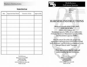 Harness Instructions  U0026 Inspection Log