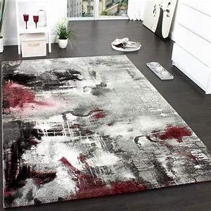 Teppich Grau Modern : teppich modern designer teppich leinwand optik meliert schattiert grau rot creme teppiche ~ Whattoseeinmadrid.com Haus und Dekorationen