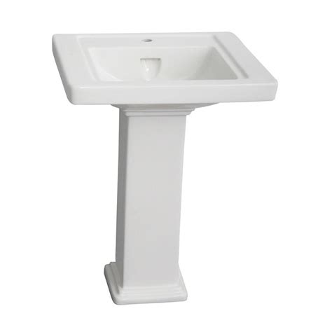 barclay products empire 24 in pedestal combo bathroom