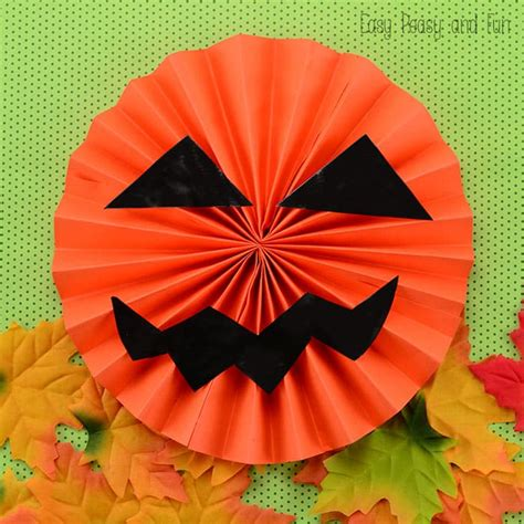 Paper Jack O'lantern  Easy Peasy And Fun