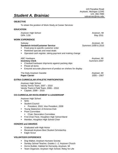 sle food service resume 28 images banking customer