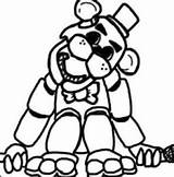 Freddy Golden Fnaf Drawing Coloring Clipartmag Fredy sketch template