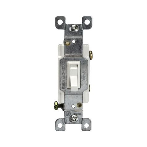 Enerlites White Single Pole Push Side Wired