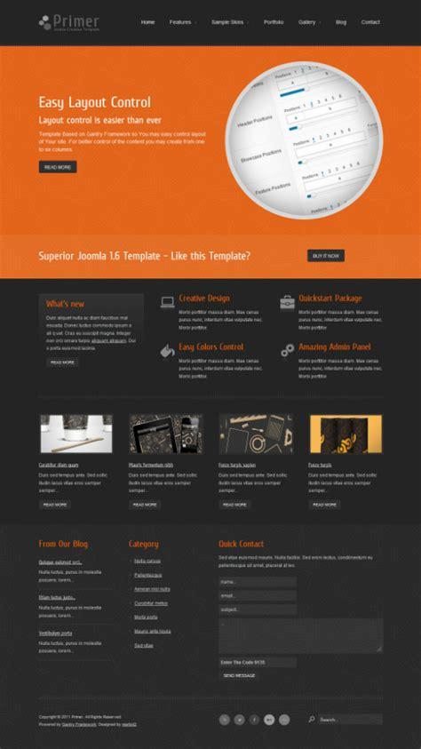 inspirational examples  orange color  web design