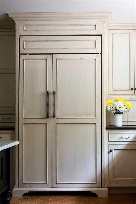 wine and beverage cooler sub zero refrigerator with wood panels giorgi kitchens