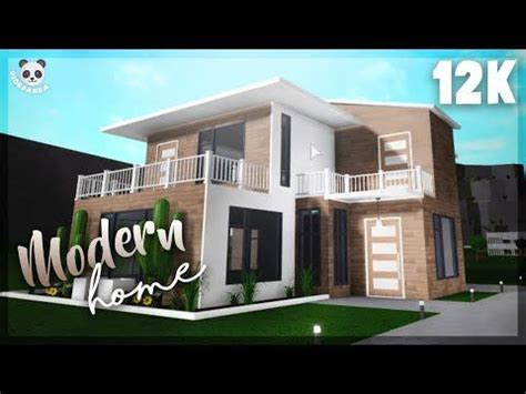 roblox bloxburg  story modern home exterior youtube   modern house exterior