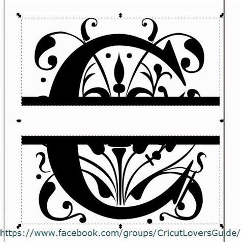 crafty crafter  inkscape  create  split letter monogram svg   imported