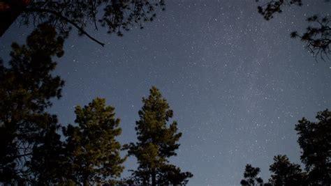 Stars Rotating North Pole Star Night Sky Polaris Time