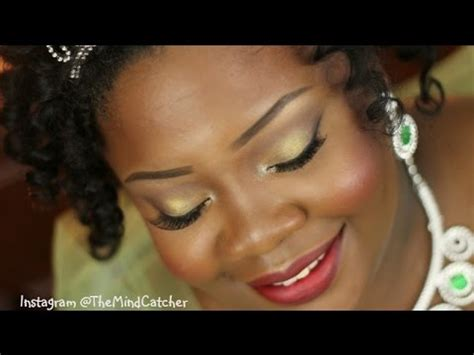 princess tiana makeup tutorial youtube