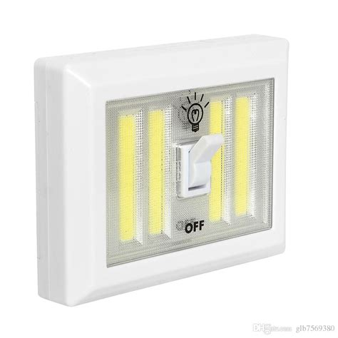 2018 magnetic 4 cob led cordless light switch wall