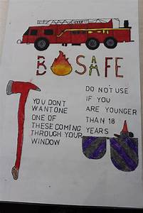 Drawing Fire Safety Poster Ideas