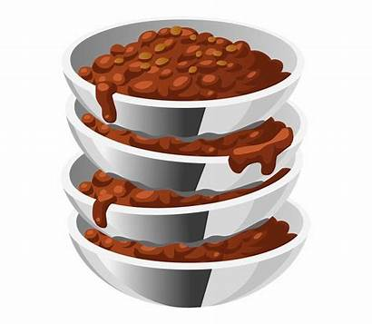 Chili Clipart Bean Beans Bowl Cooked Servings