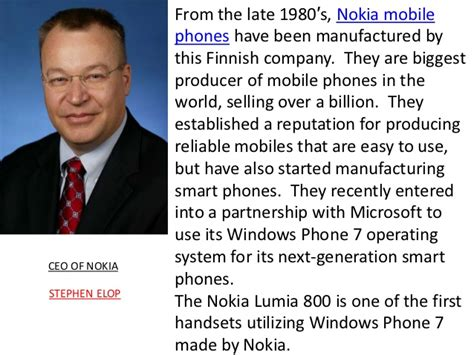 cell phone for by owner nokia presentation
