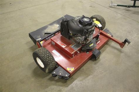 swisher  pull  finish mower hp hibid auctions