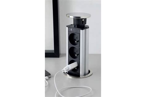 prise electrique plan de travail cuisine bloc prise électrique encastrable plan travail accessoires