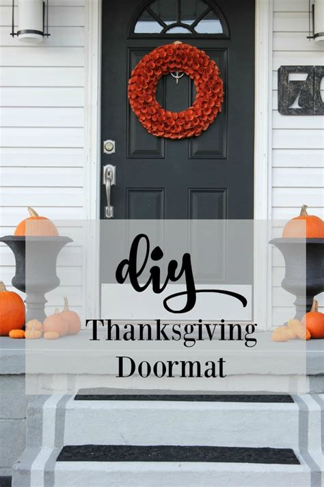 Thanksgiving Doormat by Diy Thanksgiving Doormat Thistlewood Farm