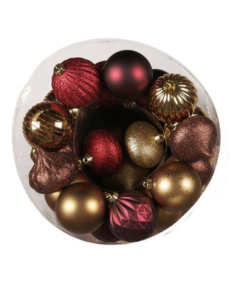 bronze decadence christmas 100 piece ornament set tree