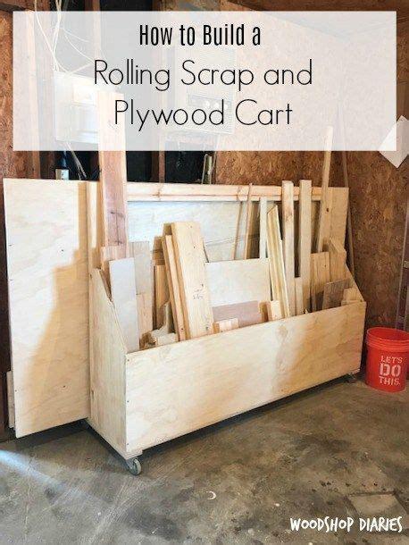 build  mobile plywood storage  scrap wood shop