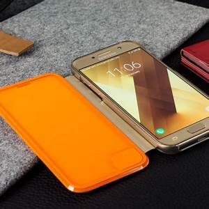 ficial Samsung Galaxy A3 2017 Neon Flip Wallet Cover Gold