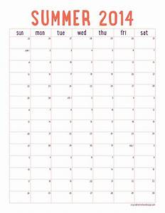 free printable summer 2014 calendar organization With google drive calendar template 2014