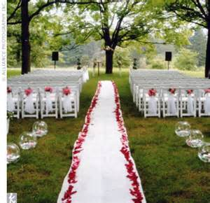 outdoor wedding aisle decor aisle decorations for outdoor wedding