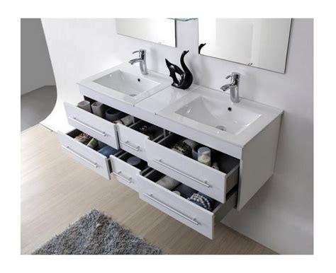 meuble salle de bain blanc laque brillant meuble salle de bain vasque blanc laqu 233 brillant 140 cm sam blanc salle de bain wc