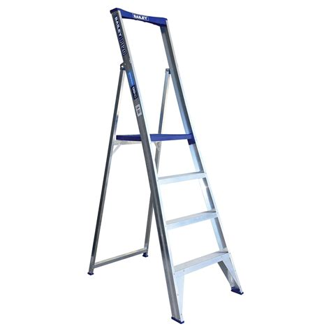 aluminium ladder bunnings bailey 1 2m 4 aluminium platform ladder bunnings