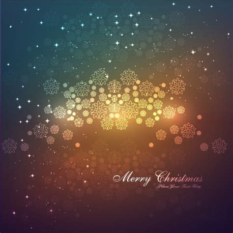 happy new years postcard merry christmas card with snowflakes background vector