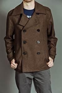 brown pea coat men39s fashion pinterest With brown pea coat mens