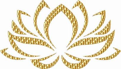 Lotus Flower Golden Background Gold Clipart Openclipart