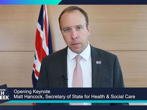 Matt Hancock calls for more technology and data use in the ...