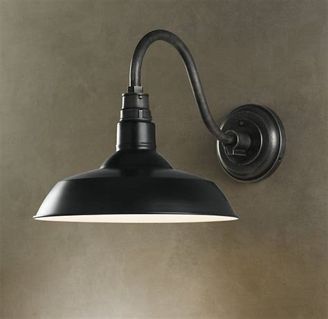 vintage barn sconce black outdoor lights collections