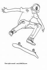 Skateboard Coloring Pages Skateboarding Colouring Coloriage Hawk Skating Imprimer Printable Skate Printables Party Deck Cool Tech Tony Dessin Skateboards Sheets sketch template